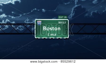 Boston USA Interstate Highway Road Sign