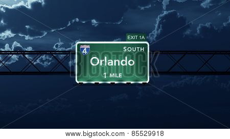 Orlando USA Interstate Highway Road Sign