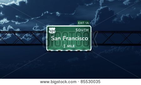 San Francisco USA Interstate Highway Road Sign