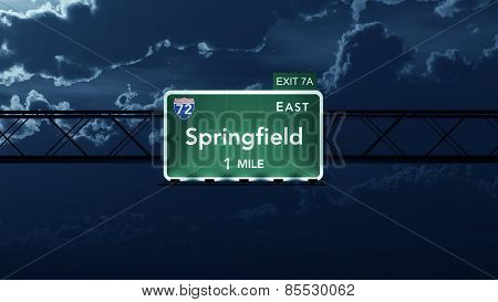 Springfield USA Interstate Highway Road Sign