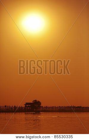 Sunset at Ayeyarwady River