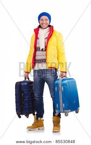 Man preparing for winter vacation