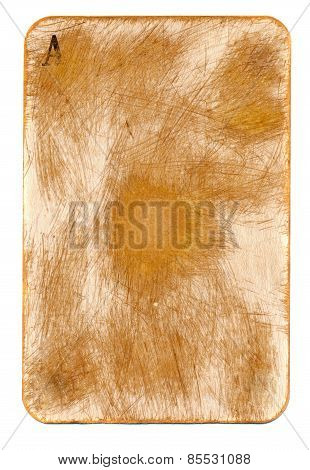 Ancient Rubbed Playing Card Of Ace Paper Background