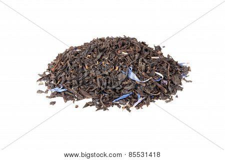 Black Earl Grey Tea Isolated On White