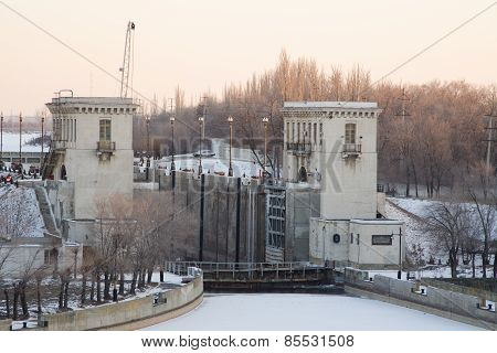 Volga-don Canal Named After Vi Lenin, The Gateway 2, Winter Volgograd