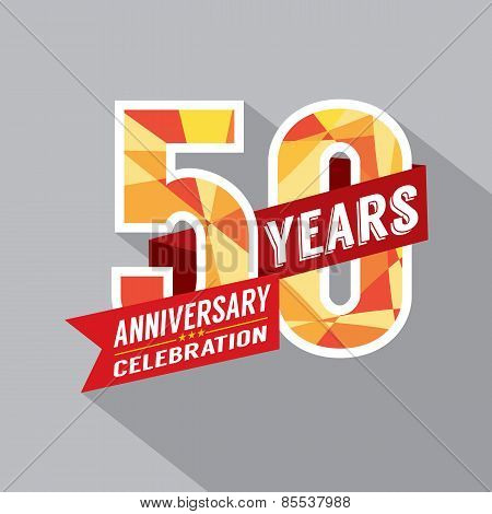 50Th Year Anniversary Celebration Design.