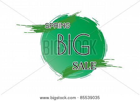Spring Sale Vector Background