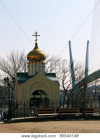 the bell tower of the Orthodox Church