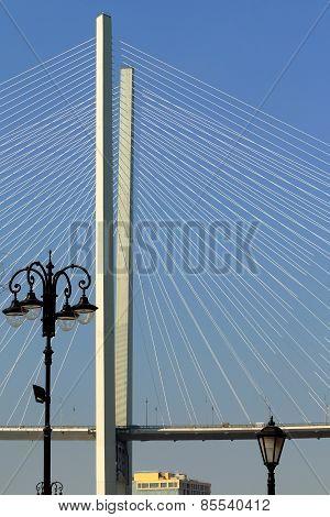 the pylon of the bridge