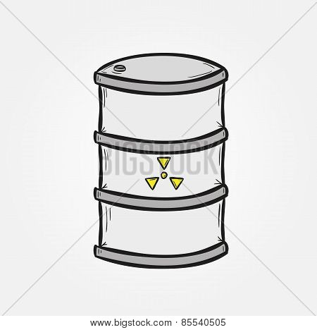 Barrel With Dangerous Fluid