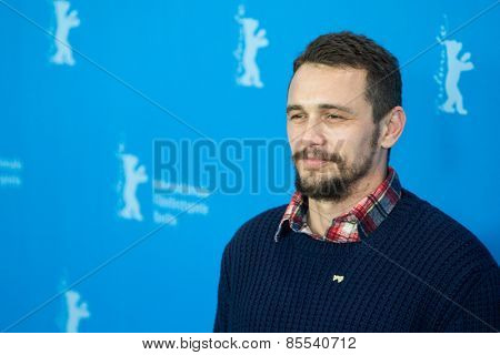 BERLIN, GERMANY - FEBRUARY 06: Actor James Franco, photocall 'Queen of the Desert'. 65th Film Festival at Hyatt Hotel on February 6, 2015 in Berlin, Germany.