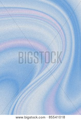 Rounded blue and pink curves strips covered  blue spray