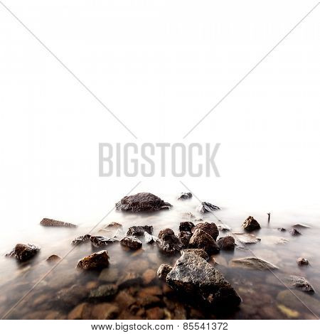 sea stones on a white background