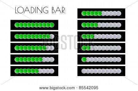 Green Loading Bars