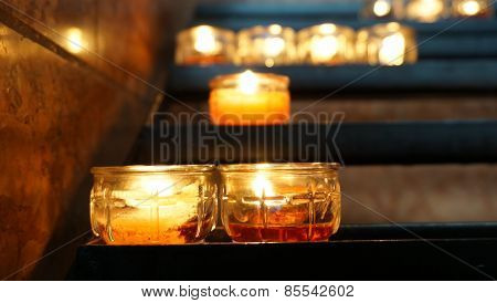 Candle in the glass and Lighting