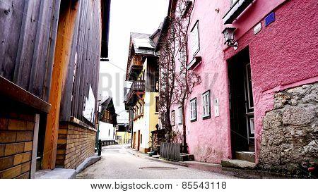 Hallstatt old town Street