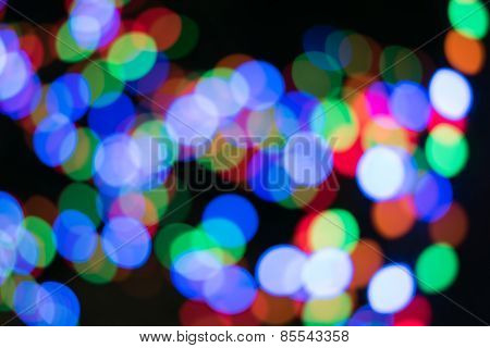 Colors bokeh abstract light background.