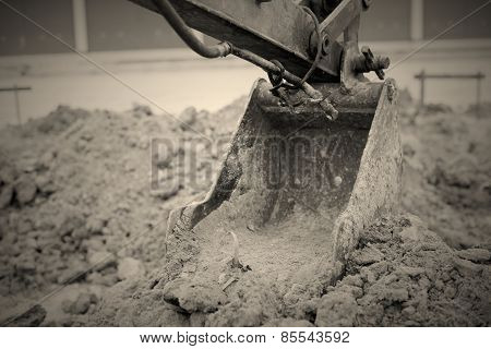 Backhoe Digging Vintage