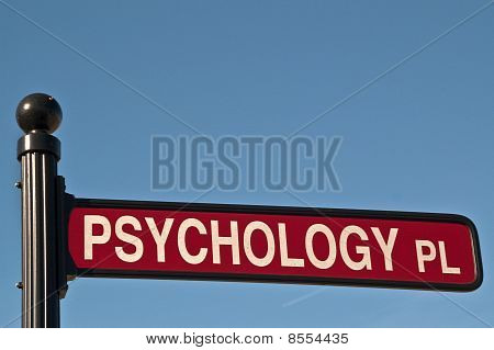 Psychology Place Street Sign