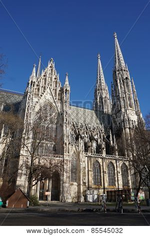 Neo Gothic Church In Vienna