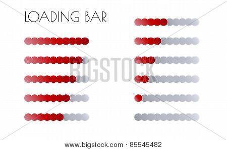 Red Loading Bars