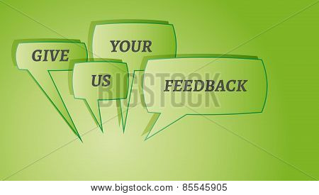 Give Me Feedback Speech Bubbles