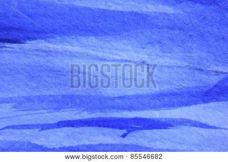 Cobalt Blue Hue Watercolor Background 10