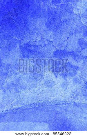 Cobalt Blue Hue Watercolor Background 3