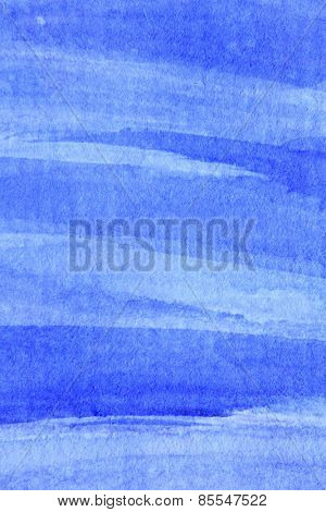 Cobalt Blue Hue Watercolor Background 7