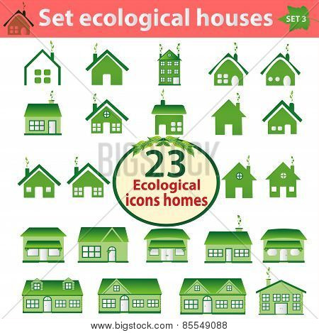 Set Of Ecological Houses Of Varying Complexity