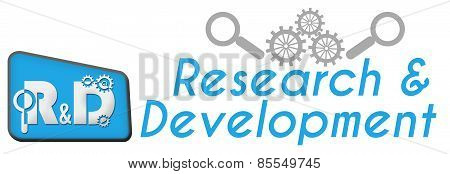 R And D - Research And Development Blue Triangle