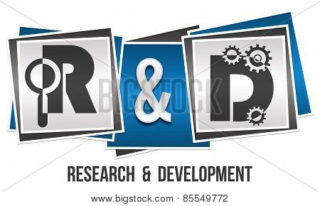 R And D - Research And Development Three Blocks