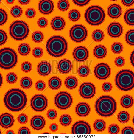 Warm Color Circle Seamless Pattern