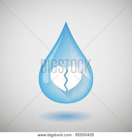 Water Drop With A Broken Heart
