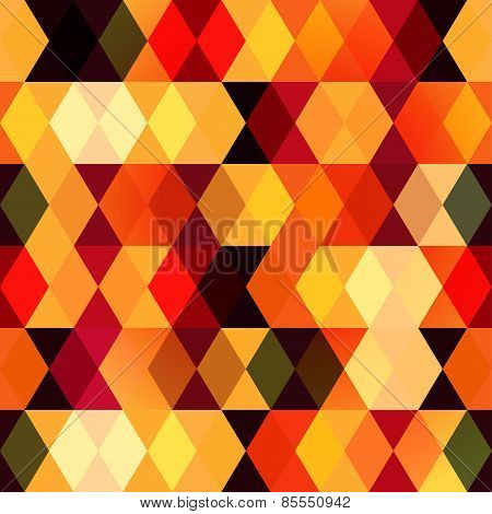 Warm Square Seamless Pattern