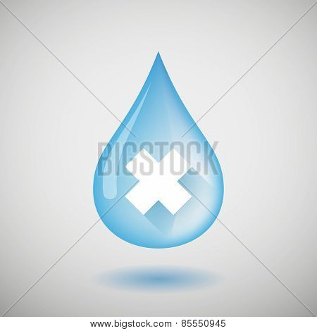 Water Drop With An Irritating Substance Sign