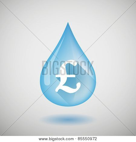 Water Drop With A Pound Sign