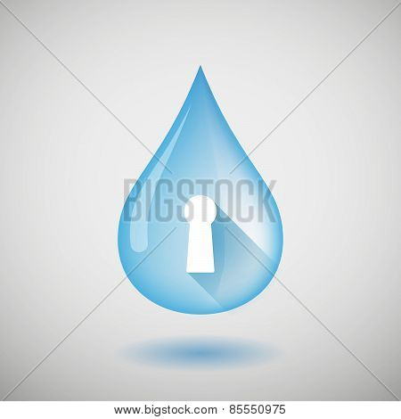 Water Drop With A Key Hole