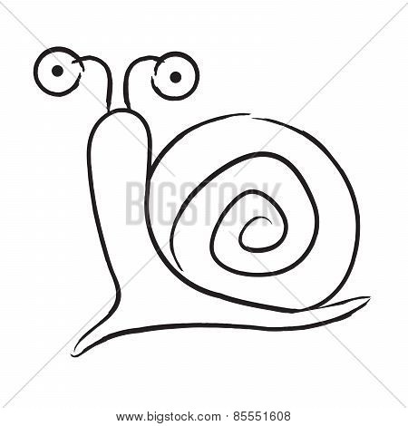 snail cartoon silhouette