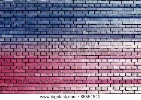 Blue Pink Brick Wall Background