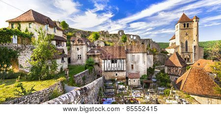 Saint-Cirq-Lapopie - one of the most beautiful villages of Franc