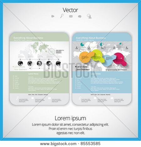 Web design template, vector