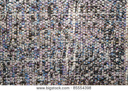 Fabric - Blue Rag Woven Rug