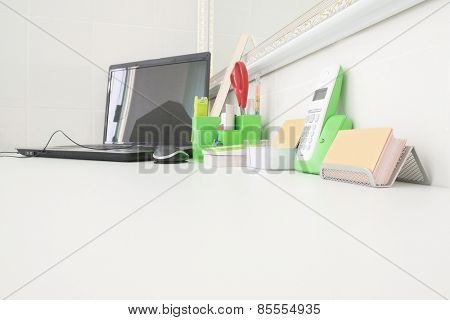 Desk doctor in dental clinic