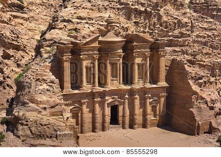 The Al-dayr Tomb Part Of The Petra Complex In Jordan
