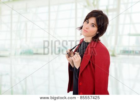 young business woman portrait at the office