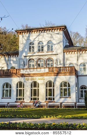 Historic Badehaus With Scenic Park In Bad Soden, Germany