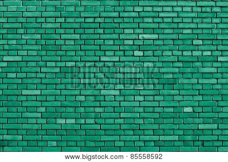 Emerald Green Brick Wall Background