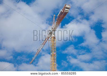 Construction Crane Against Beautiful Cloudscape