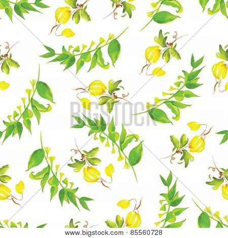 Summer Watercolor Seamless Vector Pattern